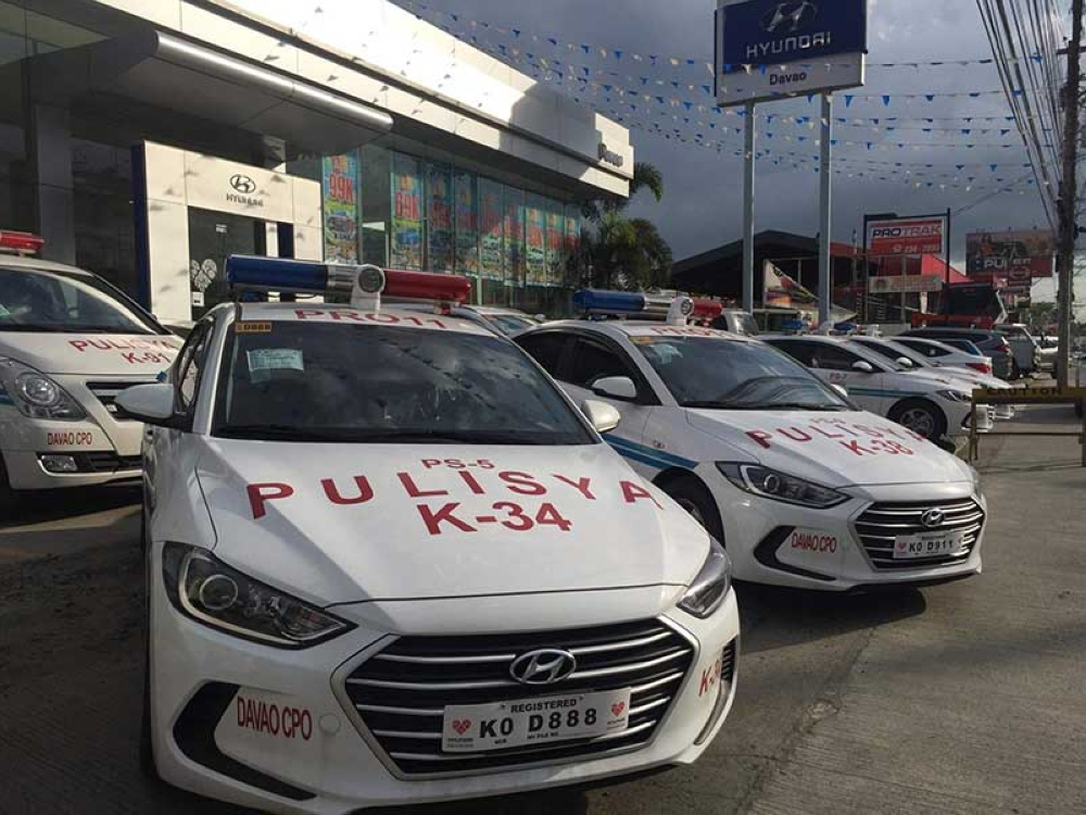 DONATION. The South Korea government donates 12 brand new units of Hyundai Elantra mobile patrol cars and two Starex vans to the Davao City Police Office. (Hyundai Davao)