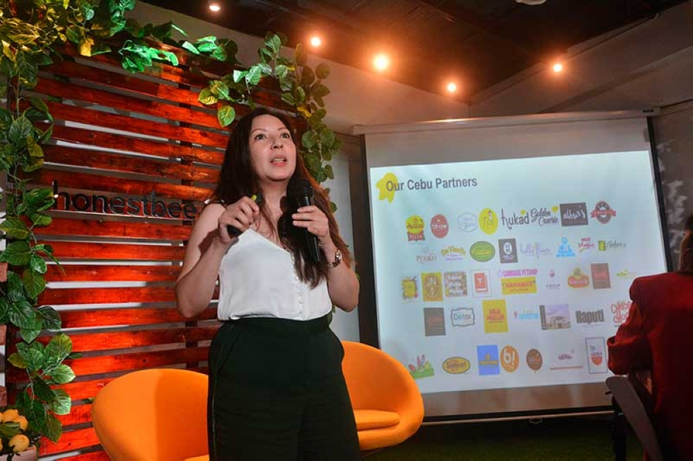 PARTNERS. Honestbee brand and communications director Cat Avelino says they now carry 300 brands in Cebu. (SunStar photo/Amper Campaña)