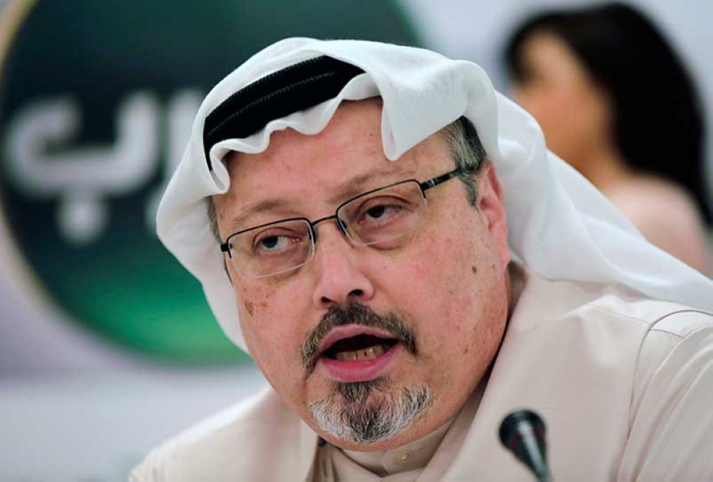 In this Feb. 1, 2015, file photo, Saudi journalist Jamal Khashoggi speaks   during a press conference in Manama, Bahrain. A pro-government Turkish   newspaper on Wednesday, Oct. 17, 2018 published a gruesome recounting of the   alleged slaying of Saudi writer Jamal Khashoggi at the Saudi Consulate in   Istanbul, just as America's top diplomat arrived in the country for talks   over the Washington Post columnist's disappearance. (AP File)