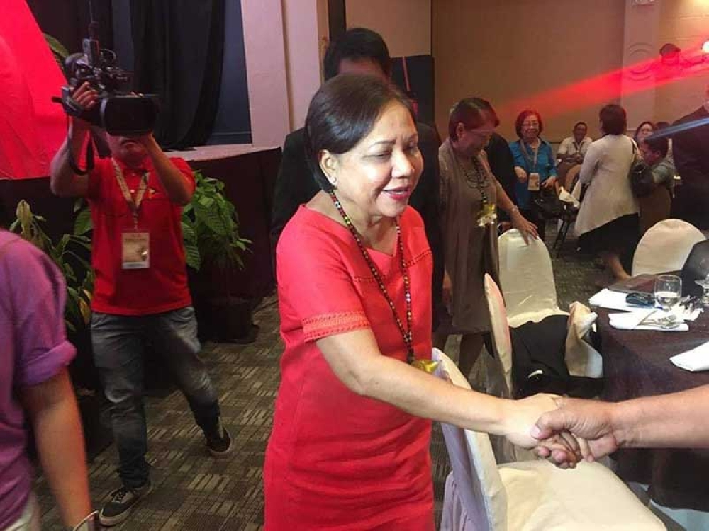 DAVAO. Senator Cynthia Villar at Philippine Chocolate Festival at Davao Convention Center, Davao City. (Gilford Doquila)