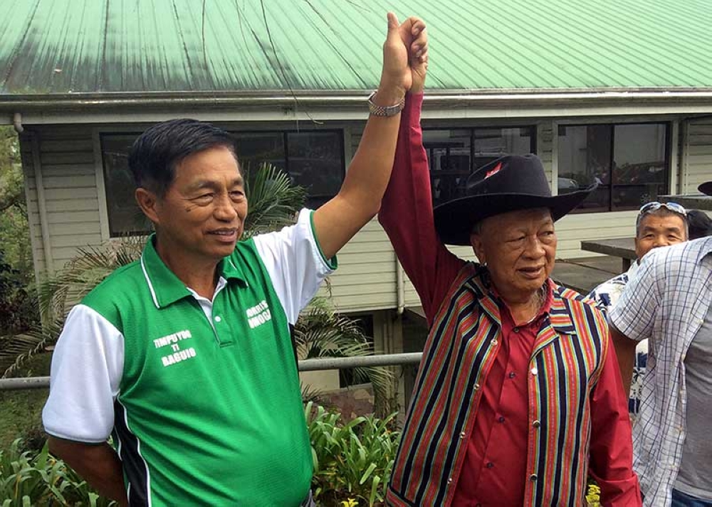 BAGUIO. Banking on their years of public service, Baguio City Mayor Mauricio Domogan and former Benguet governor Nestor Fongwan will be seeking congressional seats in the May 2019 mid-term elections. (Photo by Jonathan Llanes)