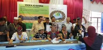 CAGAYAN DE ORO. Signing of the memorandum of agreement between the Royal Sultanate of Marawi and Frontier Power Technologies and Allied Services and Nepodragon Power Enterprises. (Nef Luczon)
