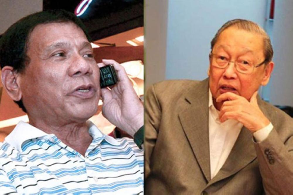 Pres President Rodrigo Duterte and communist leader Jose Maria Sison (File Photo)