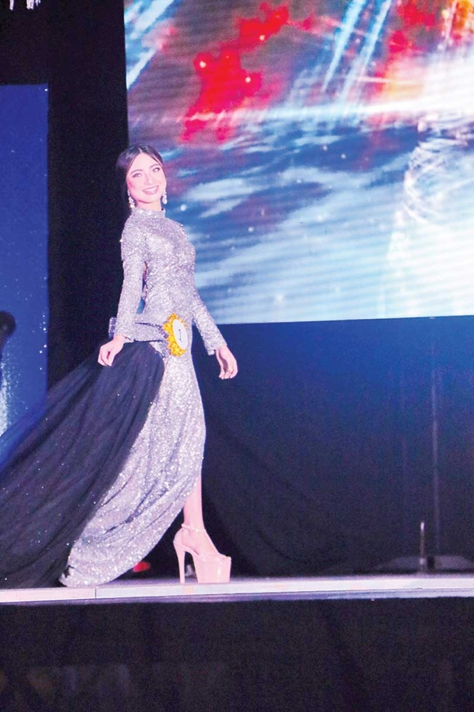 DAVAO. Miss DDC 2018 in her evening gown. (Chelsea Cuan)