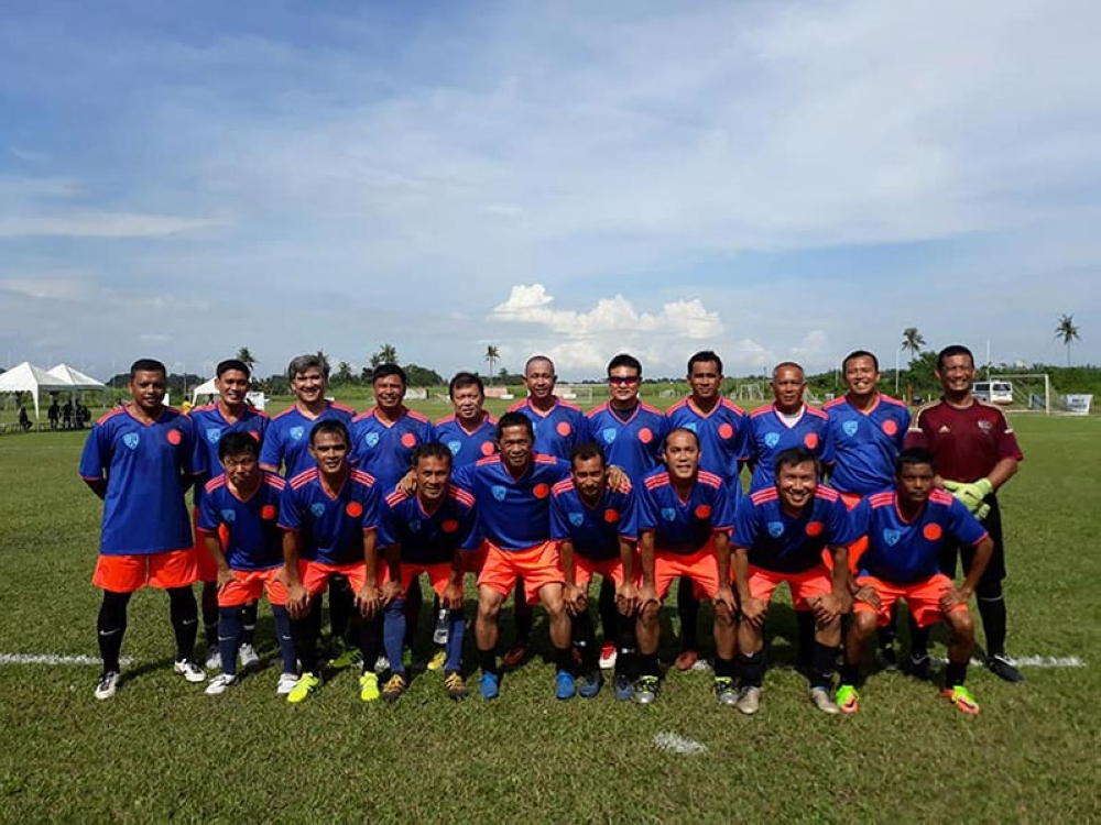 Bacolod United FC after winning the Nofa-MassKara 9-A-Side Festival title (Simon Hulleza)