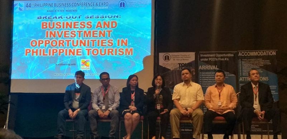 MANILA. Provincial Planning and Development Officer Ma. Lina Sanogal (center) along with other presenters during the break-out session on Business and Investment Opportunities in Philippine Tourism of the 44th Philippine Business Conference in Manila on Friday, October 19. (Erwin Nicavera)