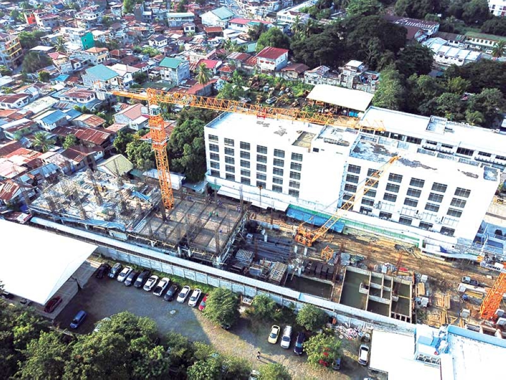 DAVAO. Santos Land Development Corporation (SLDC) launched two new vertical projects - the Ivory Residences Condominium and Obsidian Suites Hotel in JP Laurel Avenue, Davao City. (Drone shots by Mark Perandos)