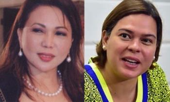 Lourdes Villamar-Mangaoang and Davao City Mayor Sara Duterte-Carpio. (Photos from Mangaoang's LinkedIn account and SunStar Archive)