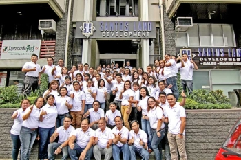 DAVAO. The force behind the successful homegrown developer, Santos Land Development Corporation. (Ace June Rell S. Perez)
