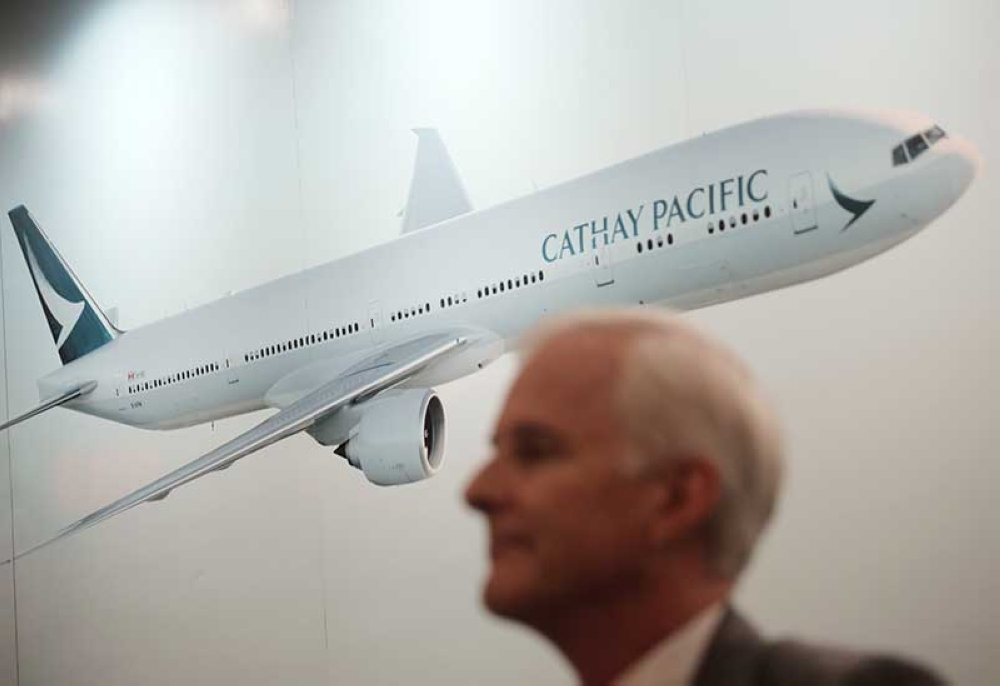 HONGKONG. In this Aug. 16, 2017, file photo, Cathay Pacific Chairman John Slosar attends a news conference as he announces the company result in Hong Kong, Wednesday, Aug. 16, 2017. (AP File)