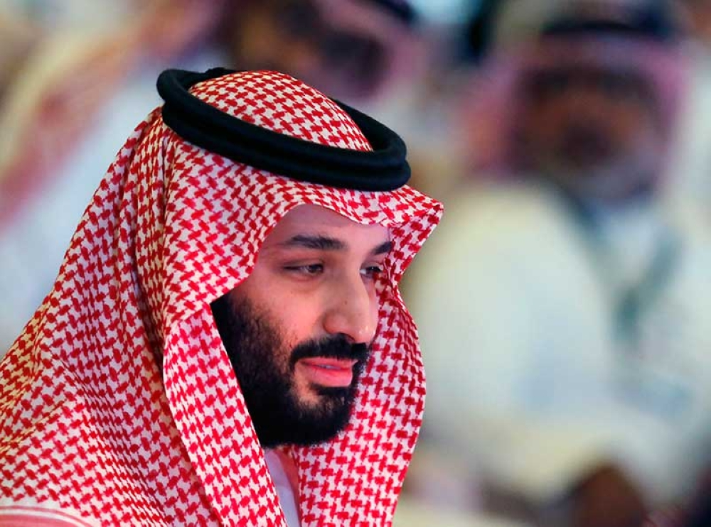 RIYADH. Saudi Crown Prince, Mohammed bin Salman, attends the second day of Future Investment Initiative conference, in Riyadh, Saudi Arabia, Wednesday, Oct. 24, 2018. (AP)