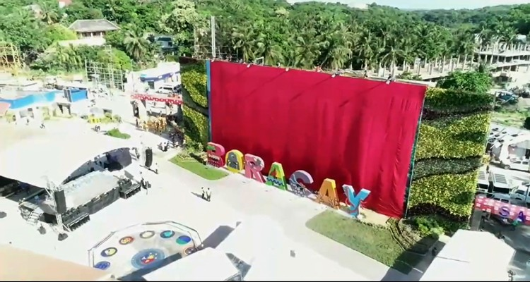 Cesspool no more. After a six-month rehabilitation, the famed resort island of Boracay was opened to tourists on Friday, Oct. 26. (Screen grab from DENR video)