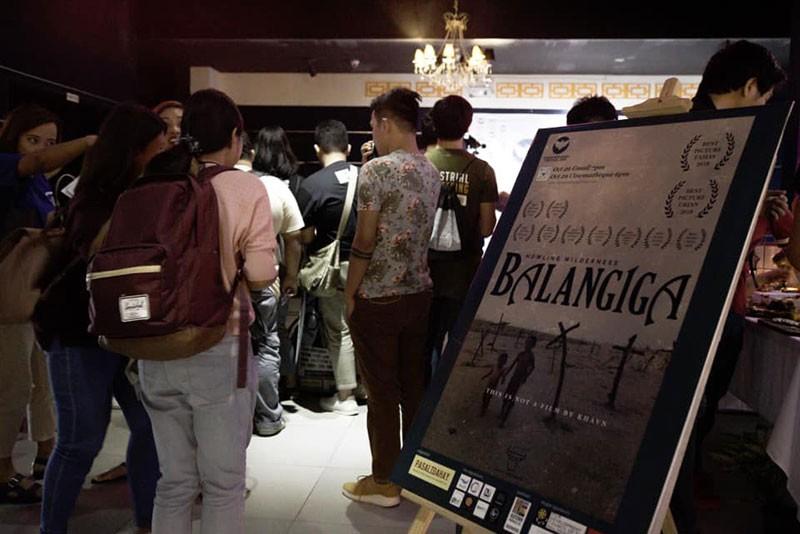 DAVAO.During the screening of Balangiga at Gaisano Mall of Davao. (Photo taken from Davao Ngilngig Festival Facebook page)