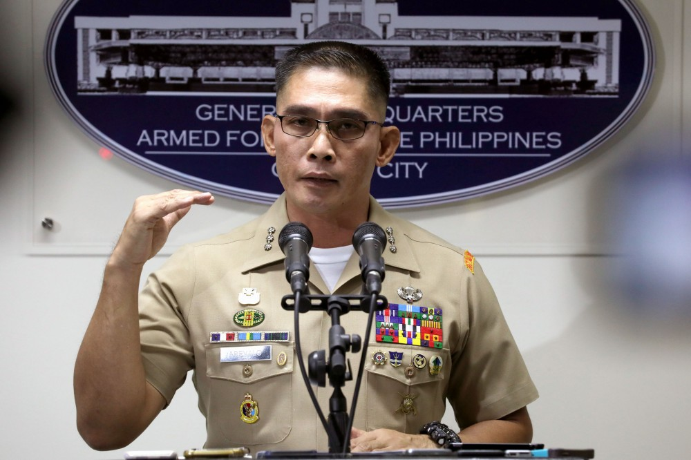 AFP Spokesperson Colonel Edward Arevalo. (PNA Photo)
