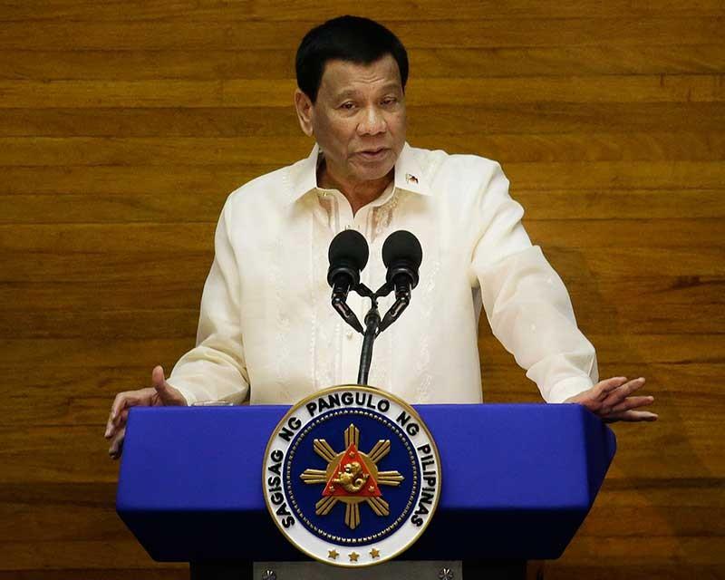 President Rodrigo Duterte. (AP File)