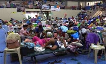 CEBU. The evacuees 40 days after the deadly landslide in the City of Naga, Cebu. (Screenshot from SunStar video)