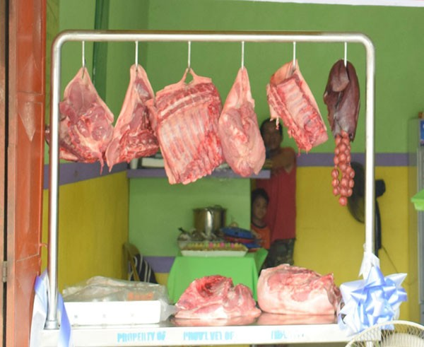 Meat products displayed and sold in one of the stalls in Negros Occidental. <b>(Contributed Photo)</b>