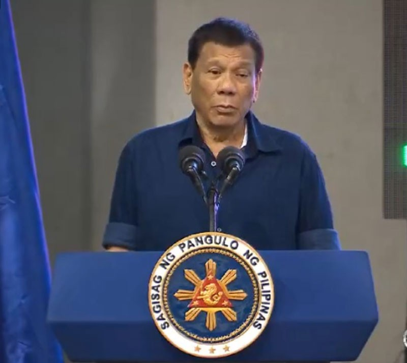 CAGAYAN DE ORO. President Rodrigo Duterte speaks during the Arc Trade Fair in Cagayan de Oro City on October 31, 2018. (RTVM video)