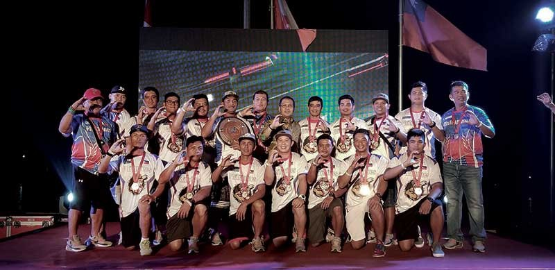 BRONZE. Members of the PHL Blu Boys celebrate after earning a bronze medal in Indonesia. (Contributed photo)