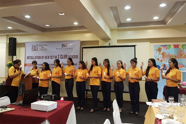 Installation Of Zonta Club. Primary project: Young Women Leadership. Partner: Benedicto College. Coordinated by Zontians Emily Benedicto, Rufina Tanchan and Matt Baguia.