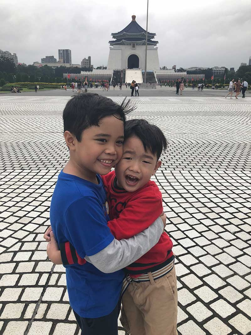 "TAIWAN. Nothing can compensate for human touch. My youngest and his cousin often ""facetime"", but they are happier to see each other at our recent vacation to Taiwan. (Hannah Wabe)"