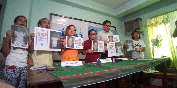 CEBU. Representatives of Karapatan and National Union of People's Lawyers (NUPL) urged authorities to conduct a thorough investigation to find the killer of human rights lawyer Benjamin Ramos. (SunStar photo/Kevin Lagunda)