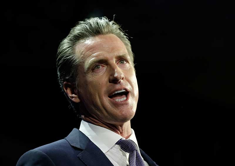 CALIFORNIA. Lt. Gov Gavin Newsom, a Democrat, addresses an election night crowd after he defeated Republican John Cox to become the 40th governor of California Tuesday, Nov. 6, 2018, in Los Angeles. (AP)