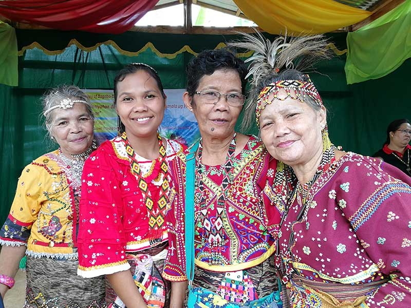 Bagobo Tagabawa women wearing their beautiful traditional clothes with authentic beadwork. (Contributed photo)