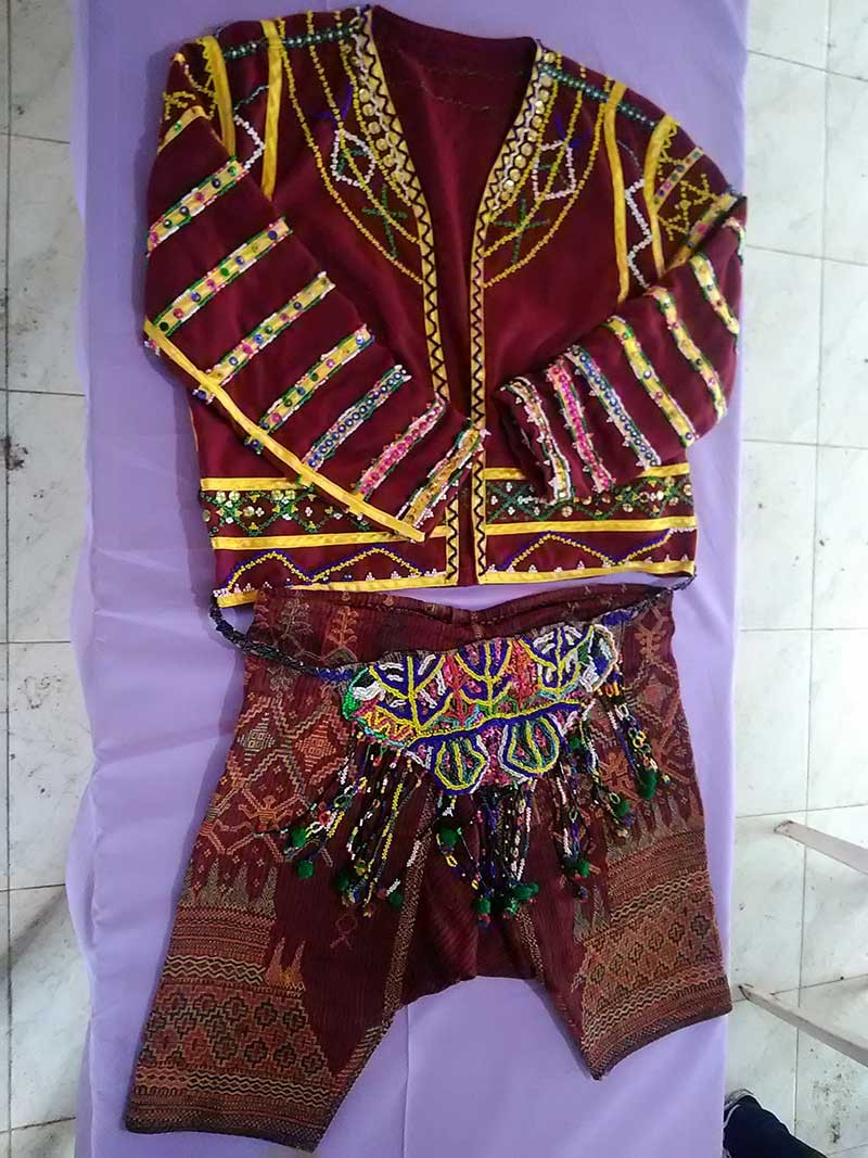 A traditional Bagobo-Tagabawa clothing made of abaca fiber for male. (Contributed photo)