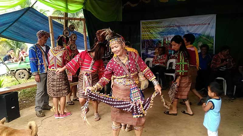Bagobo-Tagabawa women performing one of their traditional dances. (Contributed photo)