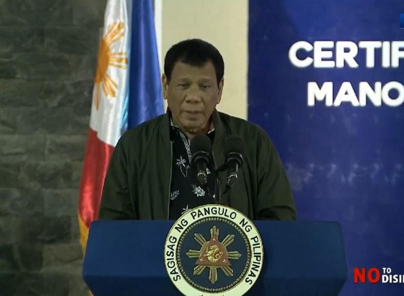 BORACAY. President Rodrigo Duterte says it gives him