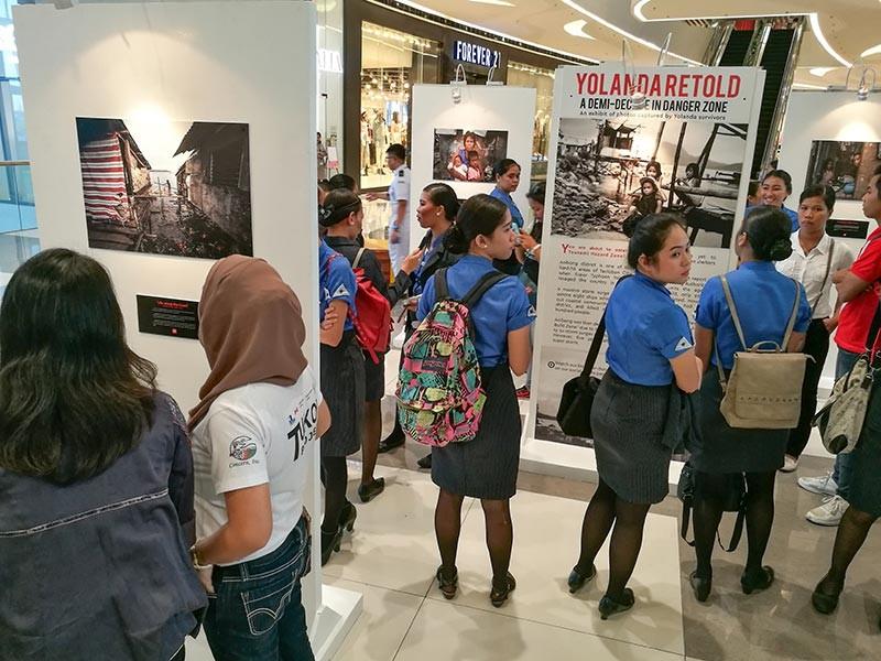 YOLANDA RETOLD. The exhibit of photos taken by kids who survived the onslaught of Super Typhoon Yolanda on Tacloban City in November 2013 runs until Dec. 8. (SunStar photo / Arni Aclao)
