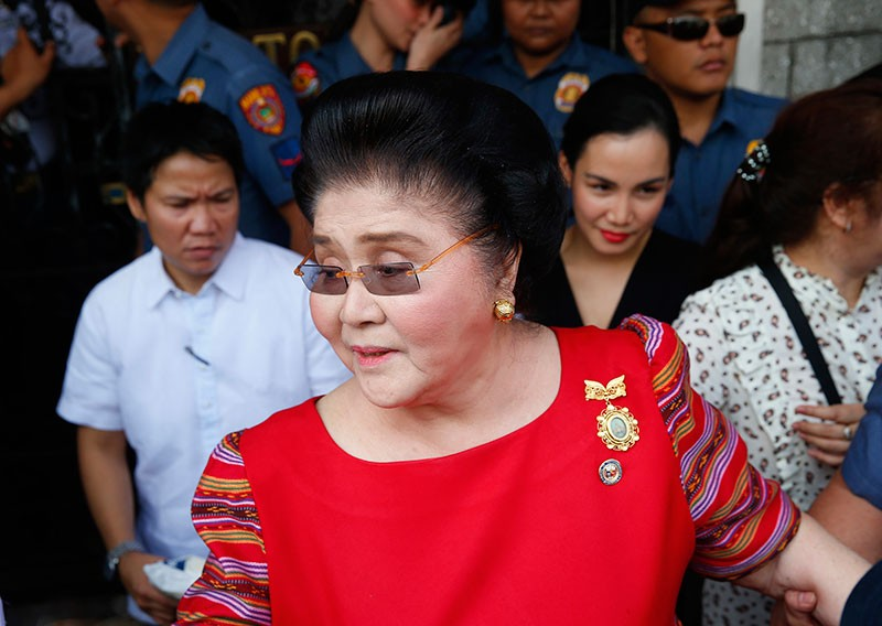 MANILA. In this Oct. 16, 2018, file photo, former first lady and widow of the late dictator Ferdinand Marcos, Representative Imelda Marcos arrives at the Commission on Elections to lend her support for her daughter Governor Imee Marcos in filing her Certificate of Candidacy or COC for a Senate seat in the May 2019 midterm elections. (AP File Photo)