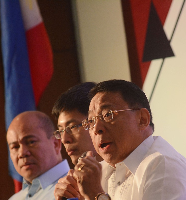 Sulong Pilipinas forum. Bangko Sentral ng Pilipinas Deputy Governor Diwa Guinigundo (right) says Filipinos can bank on the country's resilience, showing positive growth for 19 consecutive years With him are Finance Assistant Secretary Karl Kendrick Chua (center) and Budget Assistant Secretary Rolando Toledo. (SunStar Foto / Amper Campaña)