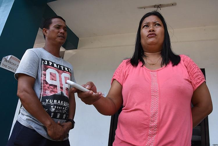 Riolito Boniel with his wife