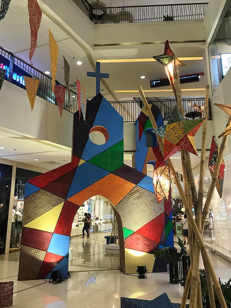 Mindanao Culture Infused Filipino Christmas By Tnalak Home For Abreeza Mall Jinggoy I Salvador