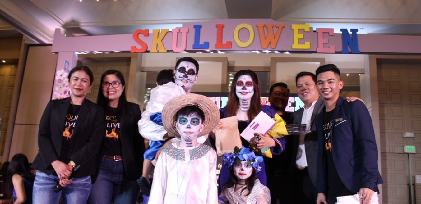 PAMPANGA. The winners of the best Halloween and Skulloween costume categories won various prizes such as Mequeni Live buffet for two, overnight stay at Quest Plus' Club room, and an overnight stay at the Grand Villa Premiere worth P60,000. (Contributed Photo)