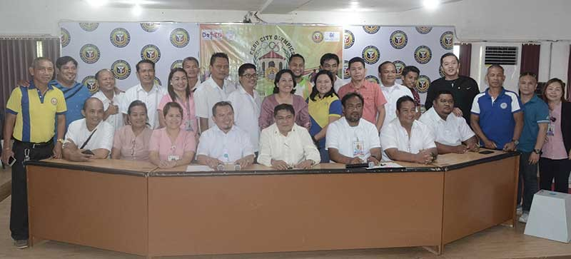 READY. Organizers and tournament managers of the Cebu City Olympics hope the public schools will step up against the private schools' athletes in the annual meet. (SunStar photo/Arni Aclao)