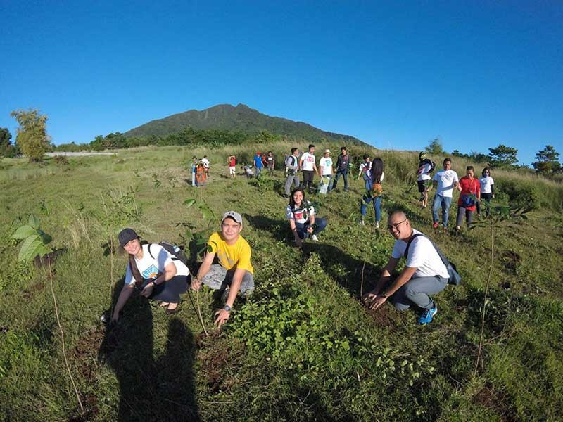 PAMPANGA. The Department of Labor and Employment (DOLE) Central Luzon personnel planted around 500 mahogany trees at the foot of Mt. Arayat over the weekend. (Contributed Photo)