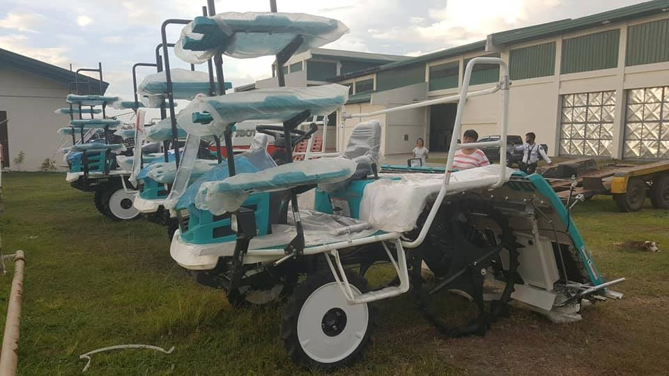 BACOLOD. The five units of transplanter amounting to about P4.4 million are part of the P9.2 million worth of machineries purchased by the Provincial Government of Negros Occidental for its province-led focused mechanization program. (Contributed Photo)