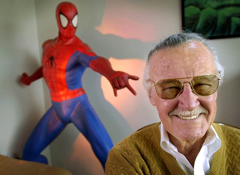 In this April 16, 2002, file photo, Stan Lee, 79, creator of comic-book franchises such as