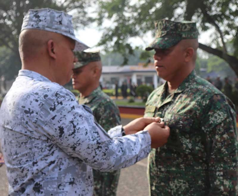 ZAMBOANGA. The Naval Forces Western Mindanao has awarded medal to the troops involved in the successful rescue of a kidnap victim on November 1 in Sulu. (Contributed photo)