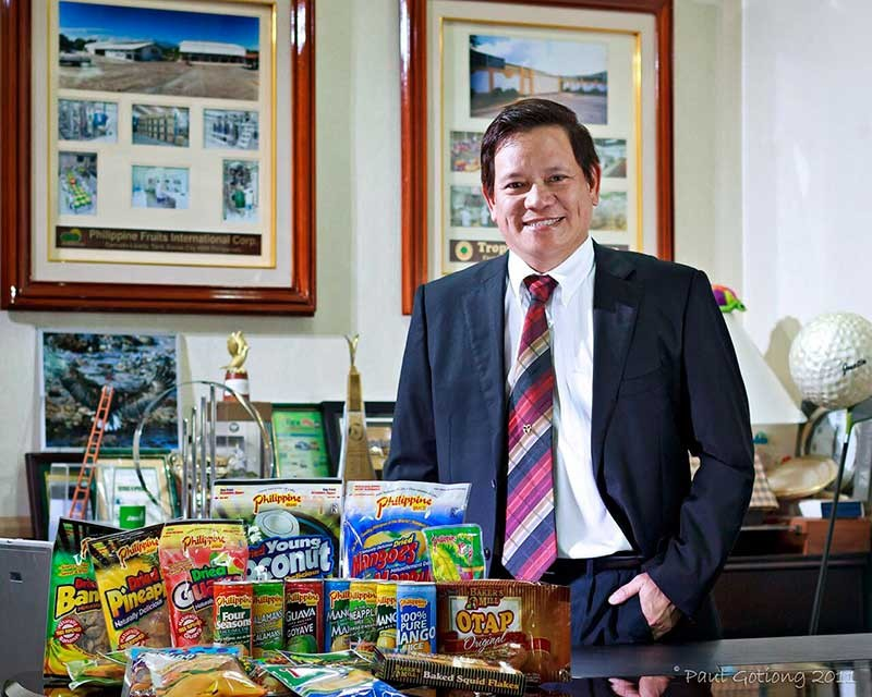 Conquering other markets. It was when he began exporting to Japan that Justin Uy realized he was on the right track. Profood International Corp.'s products are sold in 54 countries. (Contributed photo/Paul Gotiong)