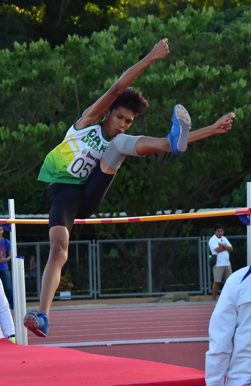 DAVAO. File photo shows Mark Anthony Caseñas of Davao City competing in secondary boys high jump en-route to winning the Davraa Meet 2018 gold medal. He will represent Team Mindanao-Philippines in the 10th BIMPNT-Eaga Friendship Games in Brunei. (Macky Lim)