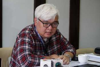 PRIVACY ISSUE. Lawyer Francis Euston Acero, head of Complaints and Investigation Division of the National Privacy Commission questions the purpose of the pregnancy test upon enrollment of Pines City Colleges. (Jean Nicole Cortes)