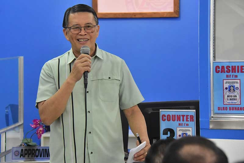 Land Transportation Office Chief Assistant Secretary Edgar Galvante during the opening of the LTO Driver's License Renewal Office on Thursday, November 15, at the Gaisano Grand in Buhangin, Davao City. (Macky Lim)