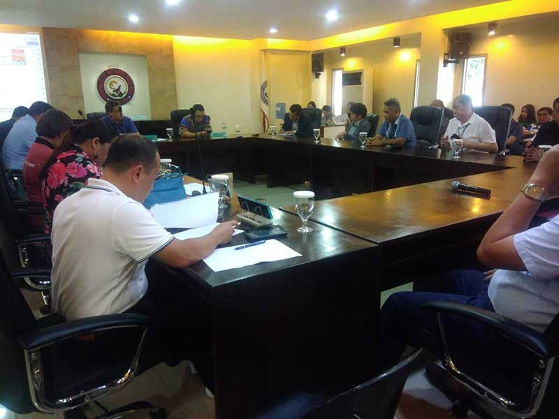 Misamis Oriental provincial board holds the third hearing on the garbage shipment from South Korea to Tagoloan, town on Thursday, November 15, 2018. The consignee Verde Soko Philippines Industrial Corp., customs and environment officials have shed light to the issue. (Contributed photo)