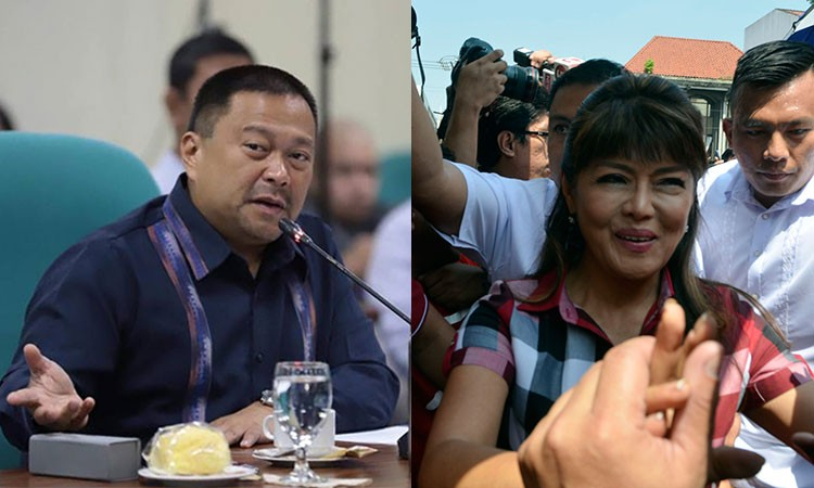 Senators Imee Marcos (left) and JV Ejercito. (SunStar File/JV Ejercito Facebook page)