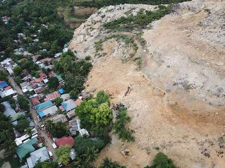 CEBU. As a precautionary measure, people living near the site of the City of Naga landslide will be evacuated before tropical depression Samuel makes landfall. (SunStar file)