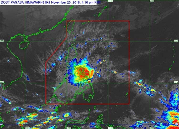 Satellite image of Tropical Depression Samuel (Source: Pagasa)